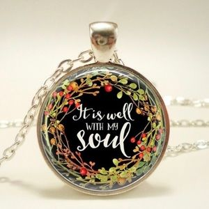 """Jewelry - """"It is well"""" necklace"""